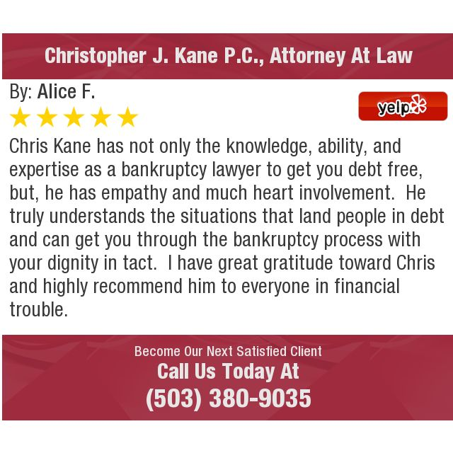 Chris Kane has not only the knowledge, ability, and expertise as a bankruptcy lawyer to...