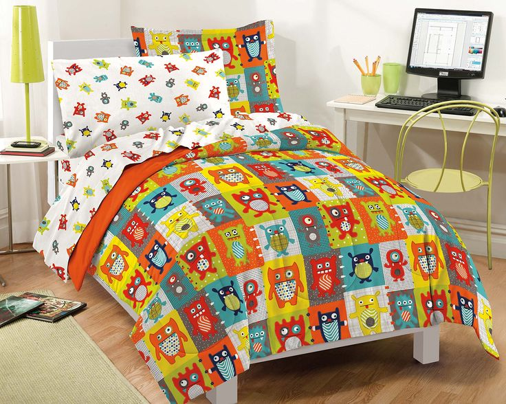 Dream Factory Silly Monsters Ultra Soft Microfiber