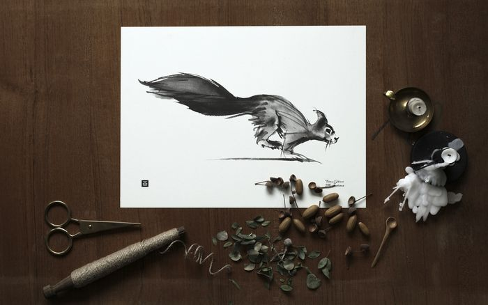 Squirrel poster, 30 x 40 cm by Teemu Järvi
