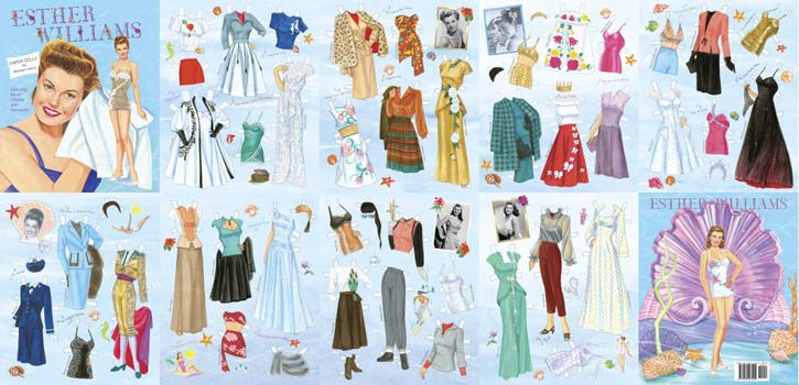 Esther Movie Clothes and Swimwear Paper Dolls - Click Image to Close