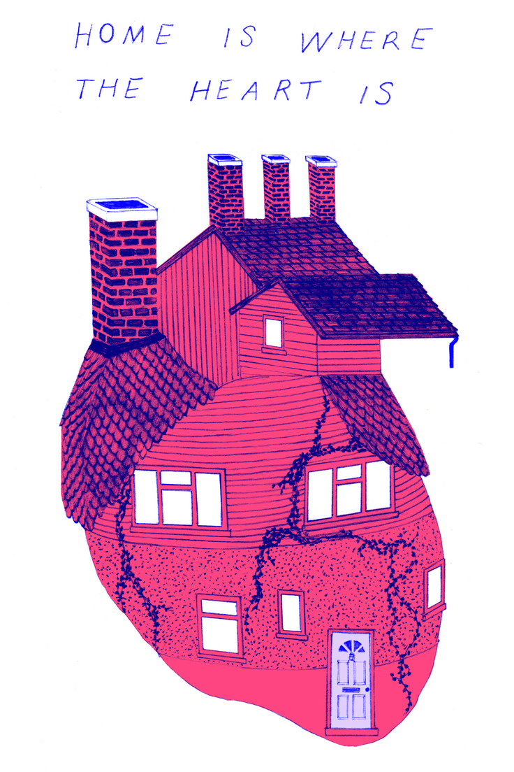 Home Anatomical Heart Art by Rachel McGivern
