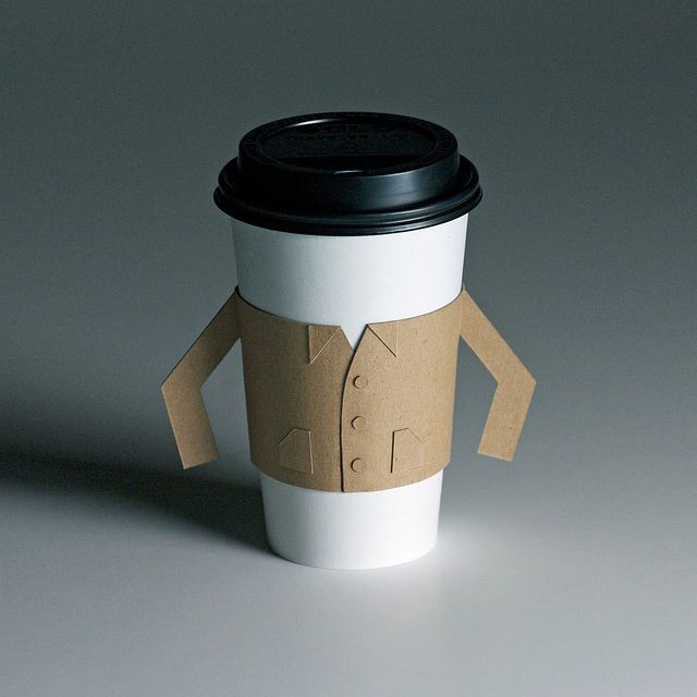 Java jacket. Yup, do not fear the hot cup of coffee no more, this is awesome #packaging #design!