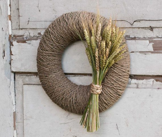 Fall wreath - Autumn wreath - Harvest wreath - Summer wreath - Rustic door decor
