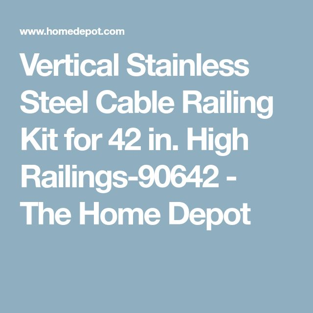 Vertical Stainless Steel Cable Railing Kit for 42 in. High Railings-90642 - The Home Depot