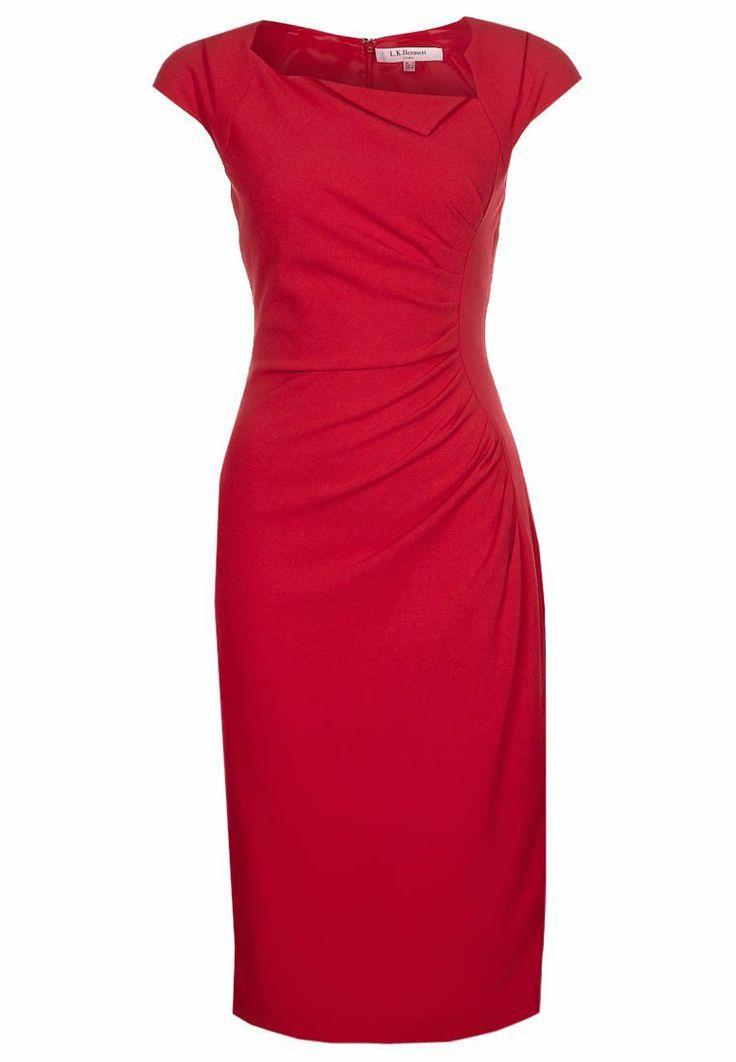 DAVINA - Work Dress - red