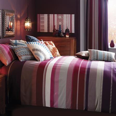 Plum Cologne Collection Duvet Cover Set Dunelm Bedroom
