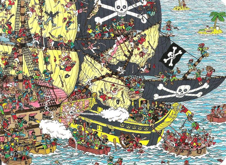 Pirate Panorama, Where's Wally?
