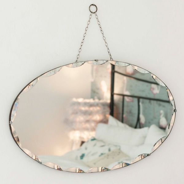 Vintage Oval Frameless Mirror From The Other Duckling You