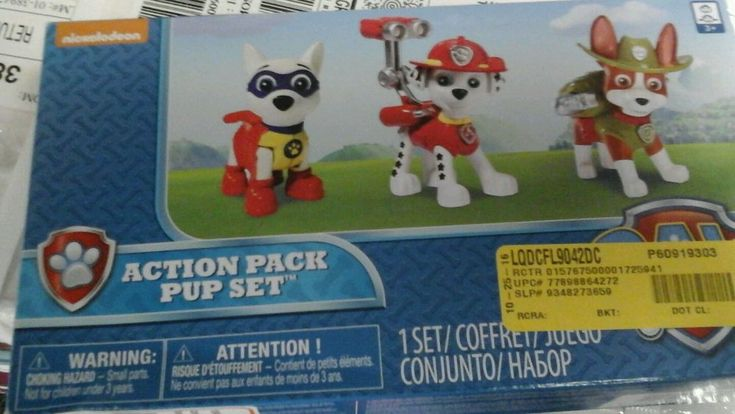 Paw Patrol Action Pack Pups Figure Set, 3pk, APOLLO, Marshall, TRACKER #SpinMaster