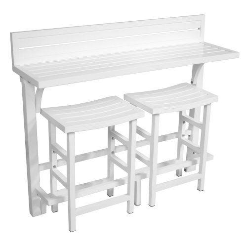 MiYu Furniture Balcony Bar Height Bistro Set - Outdoor Bistro Sets at Hayneedle