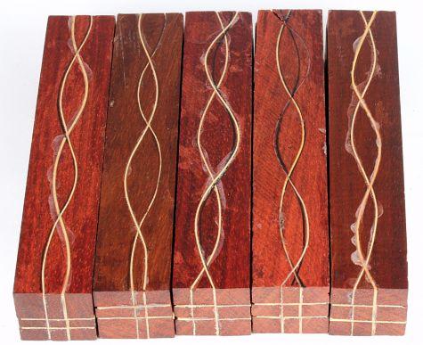 Segmented Serpentine Blanks - Red Heart With Maple Veneers