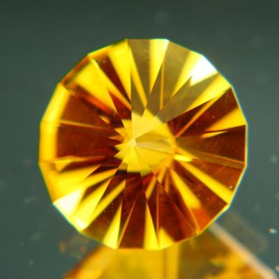 Gemstone: Natural Citrine - Carat: 5.22 - Innovative sun-disk cut combined with the most terrific natural Brazilian citrine.  http://wildfishgems.com/inc/sdetail/15760