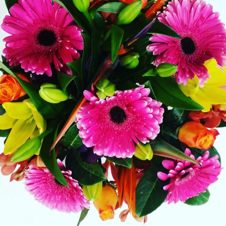 Bright box flower arrangement  www.thepaperroseflorist.com.au
