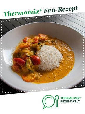 Thai curry with rice and vegetables