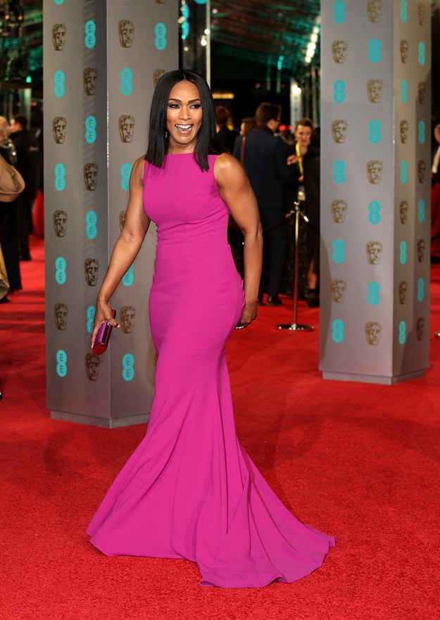 Angela Bassett at the BAFTAs ..look at her gorgeous toned arms..
