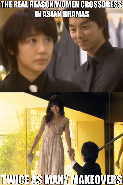 equal opportunity makeovers <3 Coffee Prince  <3 kdrama <3 gong yoo <3 yoon eun hye bahhhahaha