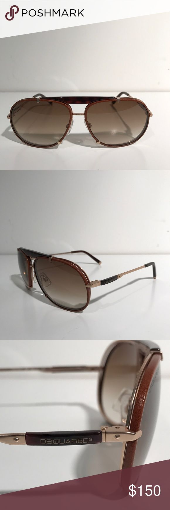 Dsquared2 Pablo Escobar Sunglasses Gold Brown Dsquared sunglasses new condition without box. Pablo Escobar edition. Made in Italy. DSQUARED Accessories Sunglasses