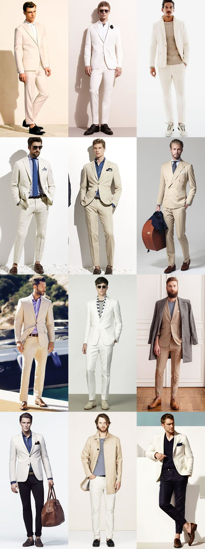 5 Key Men's Suit Styles For 2014 Spring/Summer: The Summer Neutral - Full Suit  Separates Lookbook Inspiration
