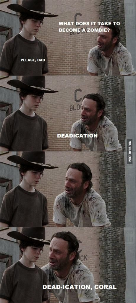What does it take to become a zombie? Also, *Carl