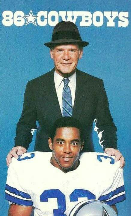 Coach Tom Landry and RB Tony Dorsett (2 time superbowl champs)
