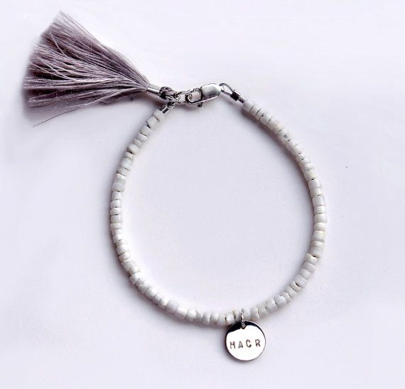 123 best l u c a j e w e l r y images on pinterest bar beaded bracelet with initial pendant white beaded bracelet tassel bracelet summer bracelet beaded boho bracelet initial bracelet mozeypictures Images