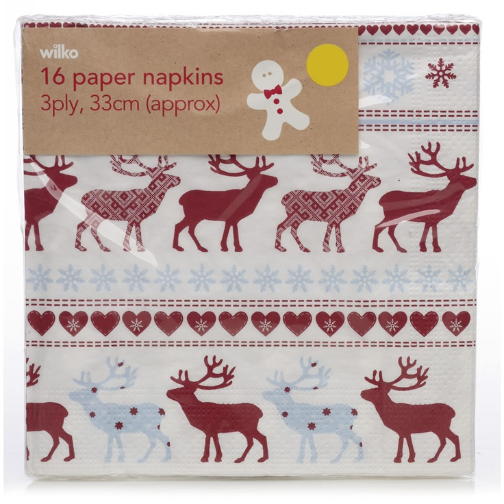 82 best ski lodge winter wonderland images on pinterest winter wilko christmas napkins paper x 16 napkins party crackers from wilkinson plus solutioingenieria Gallery