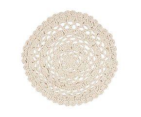 Centrotavola in cotone a uncinetto Masterpiece - d 40 cm