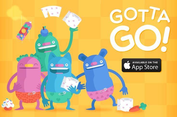 Duckie Deck Gotta Go - perfect app for potty training #illustration #parentng #iOS #design http://duckiedeck.com/apps/gotta-go