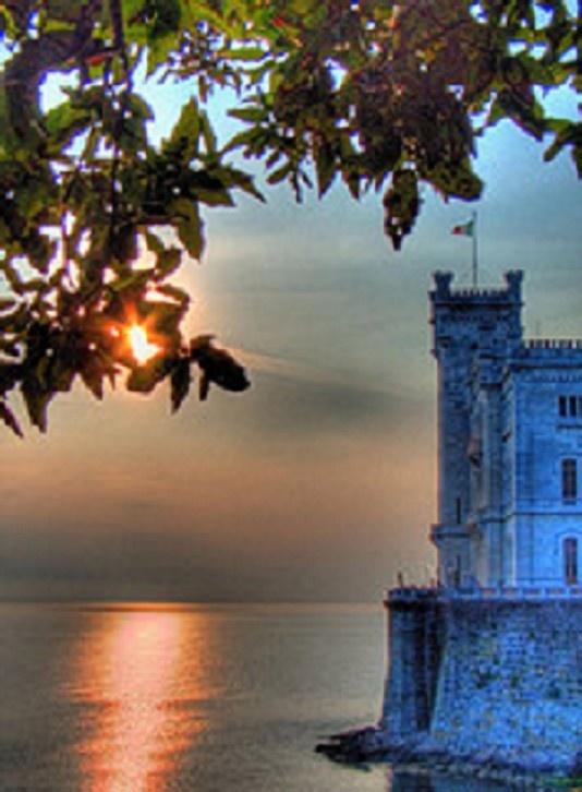 Miramare Castle, Bay of Grignano, in Trieste province, FRIULI Venezia GIULIA region Italy