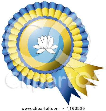 Shiny Kalmykia Flag Rosette Bowknots Medal Award - Royalty Free Vector Illustration by MilsiArt