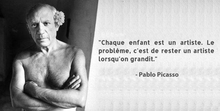 Pablo Picasso citation créativité