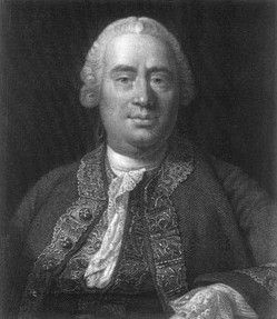 "David Hume (1711-1776) Scottish philosopher and economist. Hume defined Liberty thus: ""a power of acting or not acting, according to the determinations of the will.."". Hume argues that private property is justified because resources are limited. He also believed in an unequal distribution of property because perfect equality would destroy the ideas of thrift and industry and lead to impoverishment. He also believed that inductive reasoning cannot be logically justified. See Karl Popper."
