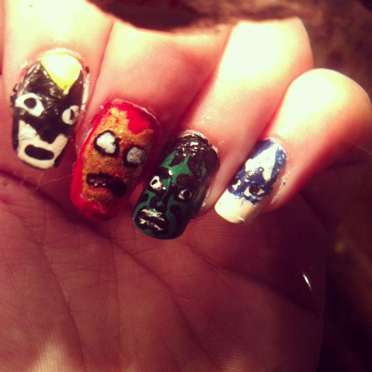 Marvel nails. Wolverine nail iron man nail hulk nail captain America nail