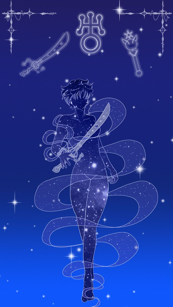 Sailor Uranus Lockscreen, Sarah Meadows on ArtStation at https://www.artstation.com/artwork/b3rar