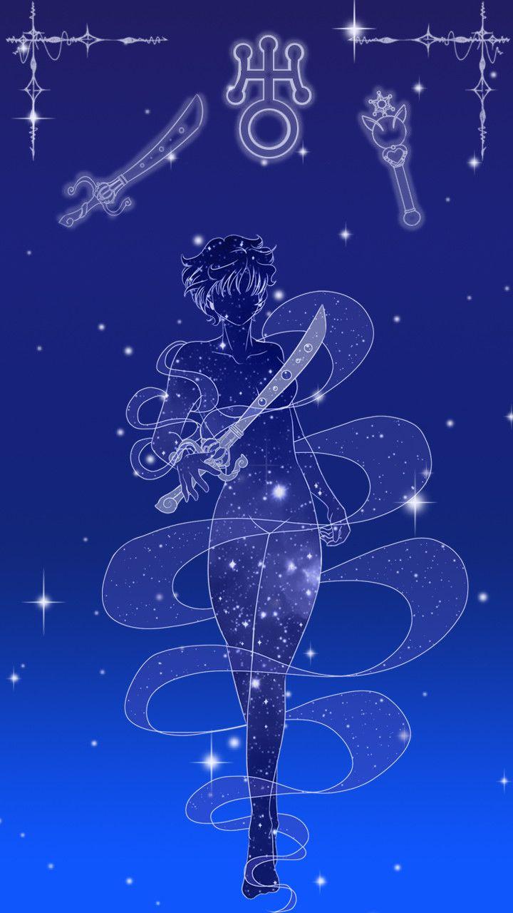 Sailor Uranus Lockscreen, Sarah Meadows on ArtStation at https://www.artstation.com/artwork/b3rar