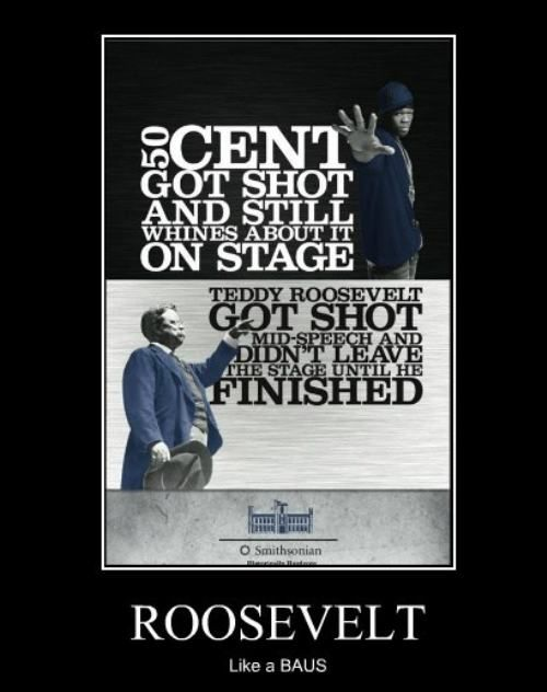 Man 50 cent sucks- Roosevelt was a BOSS: Theodore Roosevelt, Like A Boss, Teddy Roosevelt, Funny Pics, 50 Cent, A Real Man, Ads Campaigns, True Stories, Historical Hardcore