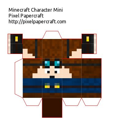 Papercraft Dantdm Mini Minecraft Crafts Minecraft