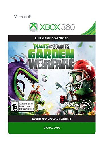 Plants vs Zombies Garden Warfare - Xbox 360 Digital Code  Requires Xbox Live Gold and an internet connection to play  24-player multiplayer action: Choose your side, plants or zombies, in 24-player online battles  Customization: Personalize your favorite plants and zombies with hundreds of unique items and customizations  4-player online co-op: Join forces with friends in online 4-player cooperative mode  New plants and zombies: Powerful new plants and zombies with a huge variety of ab...