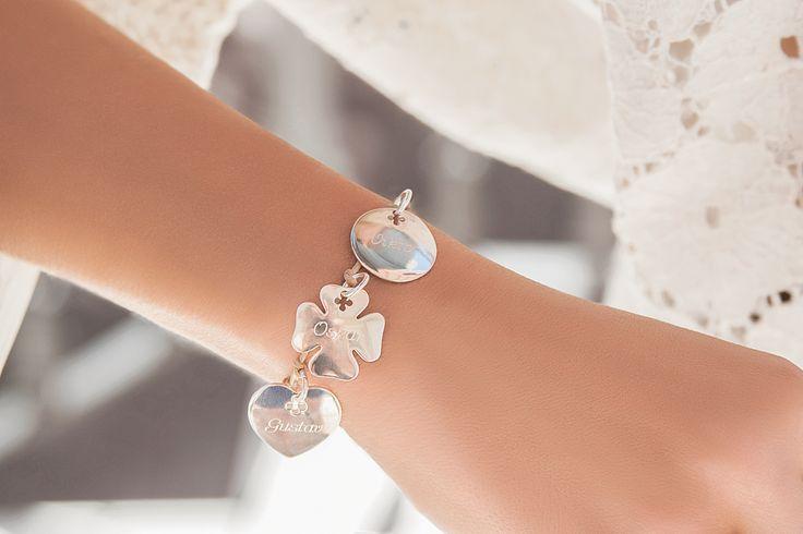 #bracelet  #heart  #clover #bemylilou #mothersday #jewelry #fashion #engraving