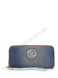 Peňaženka GUESS Jolie jeans maxi