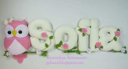 Name banner for nursery decoration