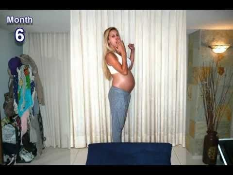 ▶ 9 months in 1000 pictures stop motion (Pregnancy time lapse!) - Osher, Tomer and Baby Emma - YouTube