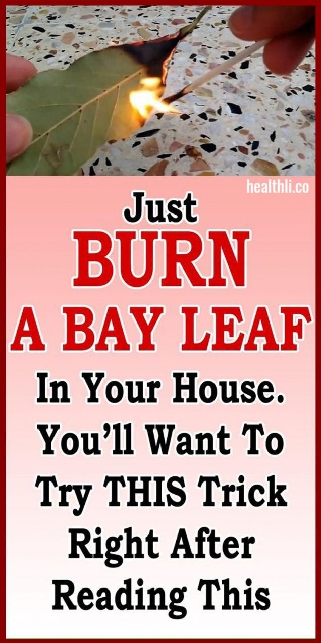 Just Burn A Bay Leaf In Your House. You'll Want To Try This Trick Right After … – Health Things !