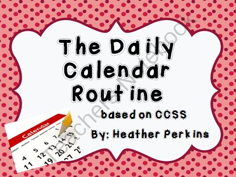The Daily Calendar Routine Based on CCSS from Second Grade Perks on TeachersNotebook.com (258 pages)