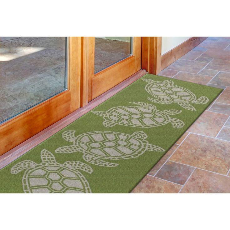 Sea Turtle Greenery Area Rug In 2019