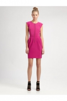 Crepe Dress Magenta Color: Magenta Price: $315.00