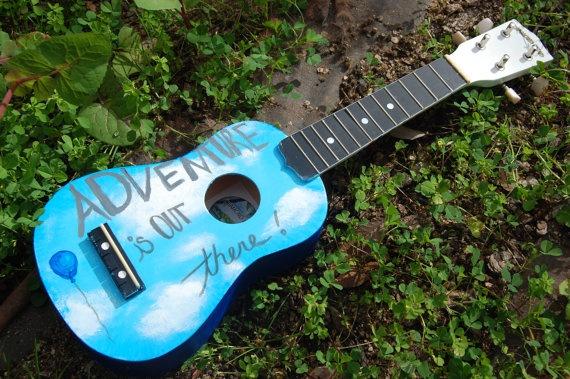 Hand painted Pixar UP ukulele by hardquirk on Etsy, $99.99
