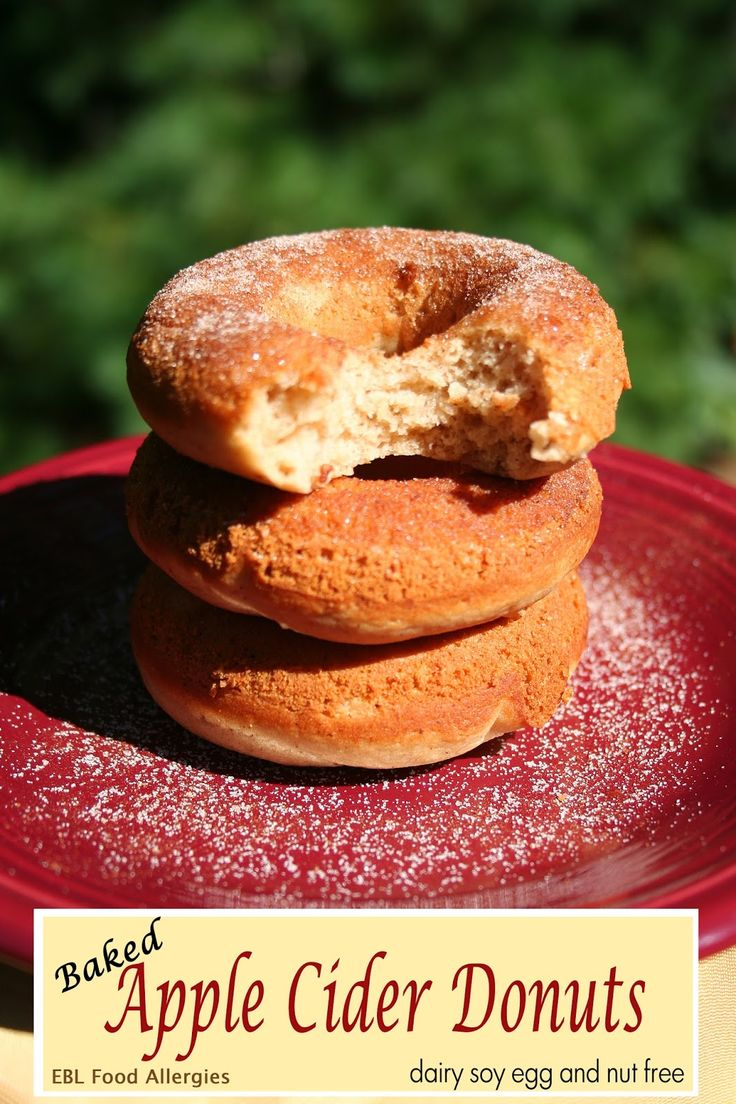 This recipe is perfect for fall!  Baked Apple Cider Donuts
