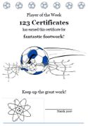 Free Printable Soccer Certificates, Soccer Awards, Soccer Certificate Templates, Player of the Game Awards to Print