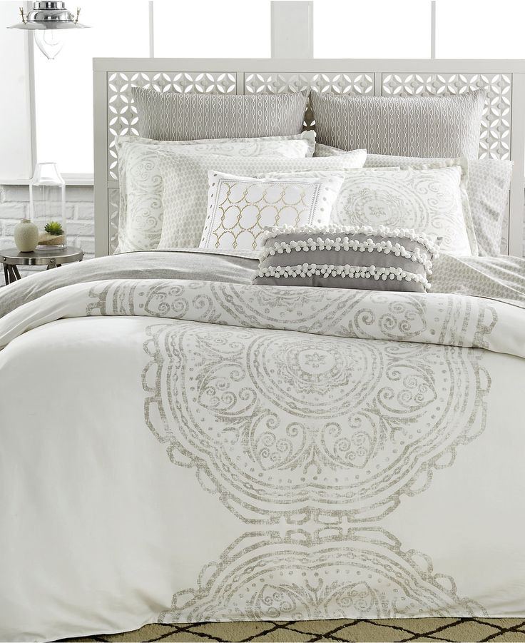 Bring a relaxed feel to the bedroom. The Token Bedding Collection blends soothing design with soft white hues to bring you a truly peaceful bedding experience.
